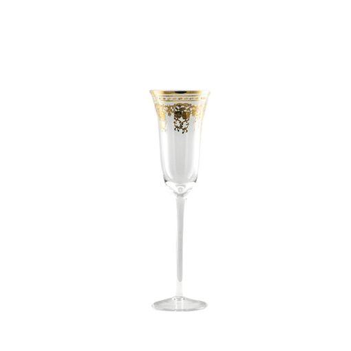Set Taça Champagne Versailles Gold