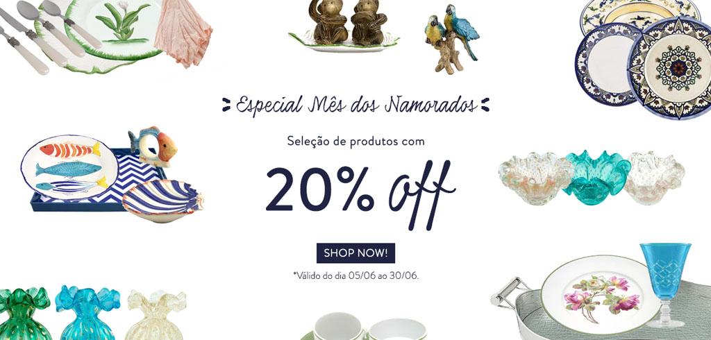 20% OFF Namorados
