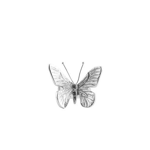 Porta Guardanapo Prata Butterfly