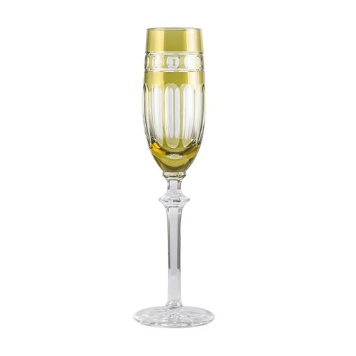 Taça Champagne Cristal Pistache