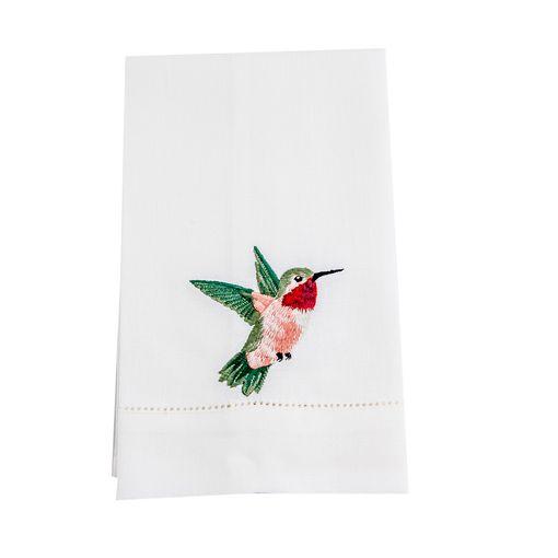 Toalha Lavabo Linho Ajour Beija- Flor